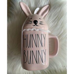 Rae Dunn :: pink Hunny Bunny mug w topper